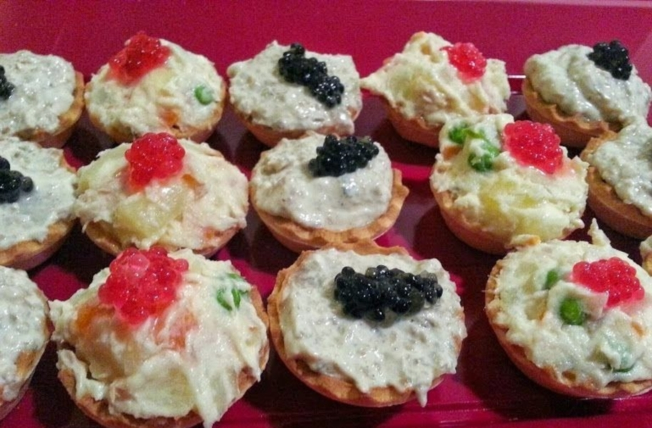 mini tarte cu ciuperci