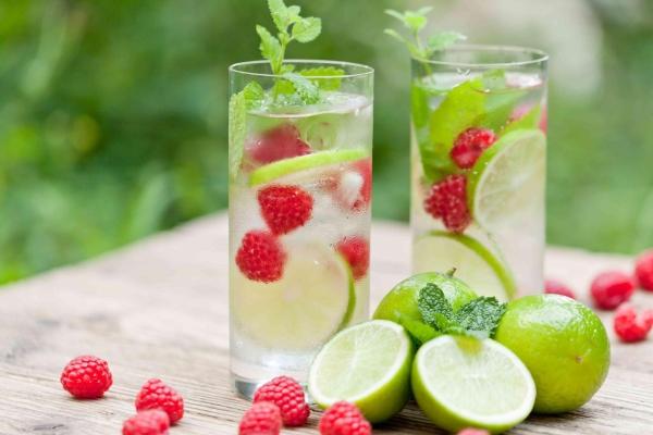 apa cu fructe si gheata